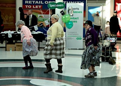 Dancing Grannies at Specsavers Wolverhapton (1)