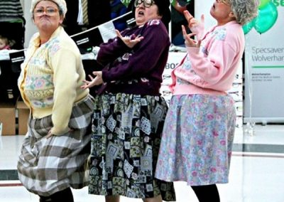 The Dancing Grannies at Specsavers Wolverhapton